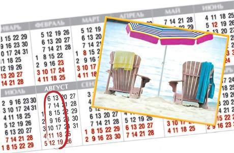 Продолжительность ежегодного основного оплачиваемого отпуска