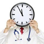 При обращение к врачу в конце рабочего дня