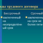 Виды трудовых договоров