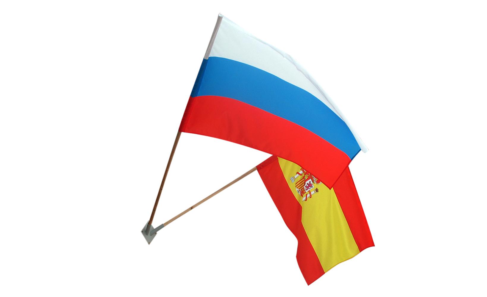 Resultado de imagen de spain russia banderas